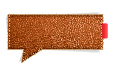 Leather texture background on retro style speech bubbles, Vector Illustration Vector