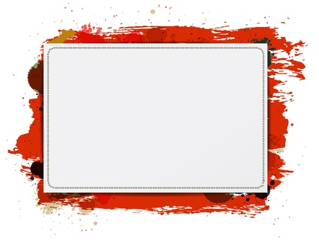 Vector paper banner / background with grungy paint watercolor red Stock Vector - 17791997