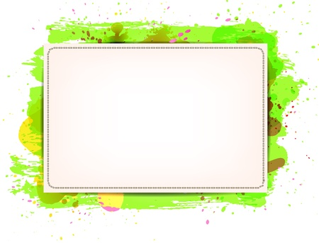 Vector paper banner / background with grungy paint watercolor Green Stock Vector - 17791999