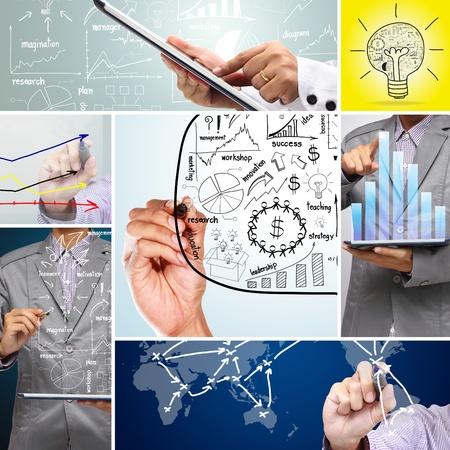 Collage business plan concept idea  photo