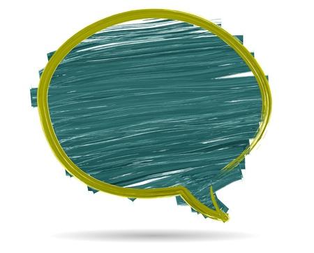 Vector Watercolor brush stroke drawing speech bubble Stock Vector - 17792006