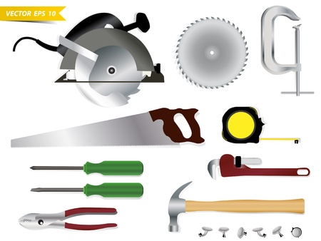 Carpentry tools Vector template design Vector
