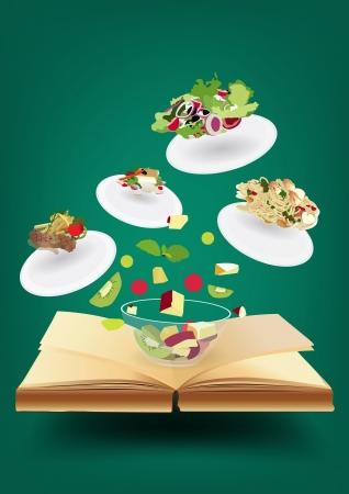 Creatief receptenboek conceptenidee, Modern template ontwerp vector illustratie
