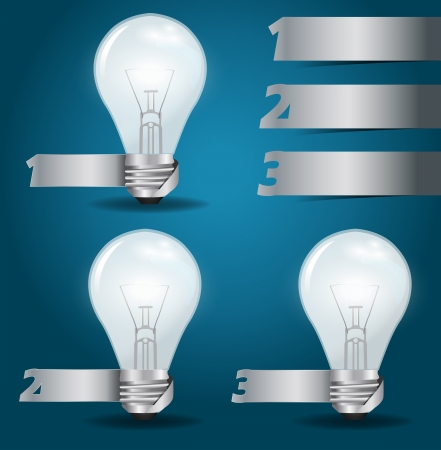 Vector light bulb idea, with modern template design  infographics  numbered banners presentation Vector