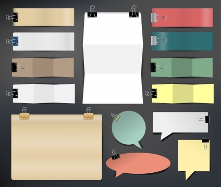 office plan: Collection of various papers, illustration template design  Illustration
