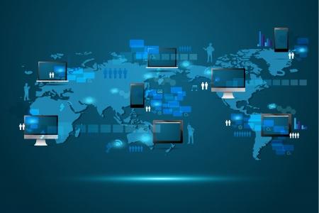 asian business meeting: Modern global business technology concept