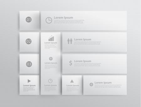 papeleria: Modelo del dise�o moderno  se puede utilizar para la infograf�a  banners numerados  l�neas de corte horizontal  vector dise�o gr�fico o sitio web Vectores