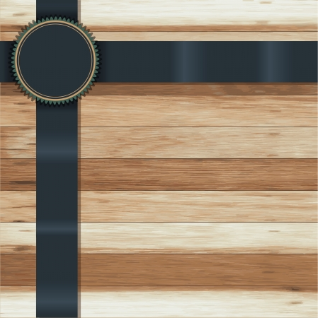 sales floor: Vector wood texture, With ribbon banner badges, labels, tags  ( Wood live trace version )