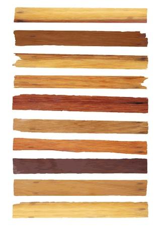 letrero: Antiguo tablón de madera aislada en el fondo blanco