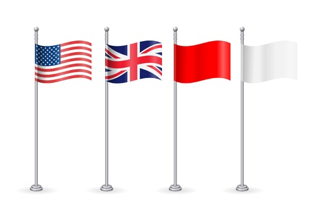 American with england flag   Vector