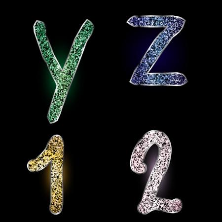 Vector letter design elements sparkle glitter background  Vector