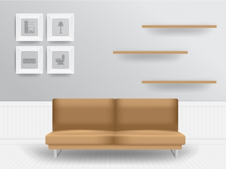 living room design: Living room interior concept, Vector illustration modern template design