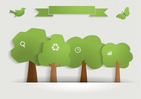 graph paper background: Nature banner idea concept, Vector illustration modern template design