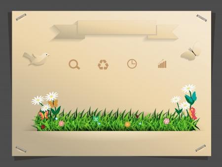 Nature banner idea concept, Vector illustration modern template design Stock Vector - 20898740