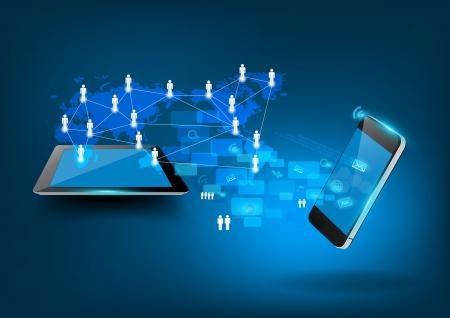 Modern technology business concept, Creative network information process diagram, illustration modern template design Stock Vector - 21122580