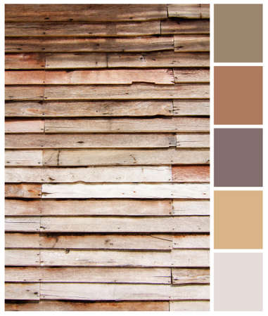 Wood plank brown texture background with colored palette guide for design work Stock Photo - 21130213