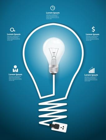 ampoule: Creative ampoule abstrait infographie design moderne mod�le de workflow disposition, diagramme, d'intensifier les options