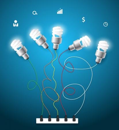 ビジネスのアイコン ベクトル創造的な電球のアイデア コンセプト