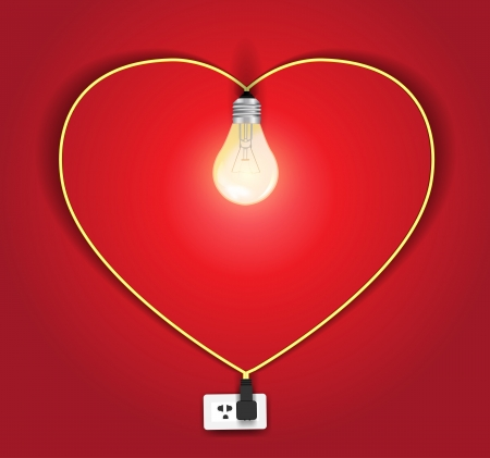 Vector heart lamp ideas concept Vector
