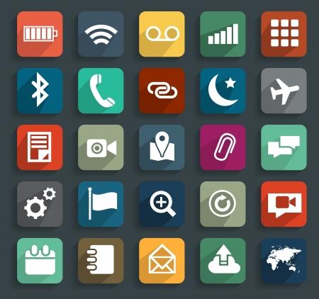 Technology business flat icons, illustration modern template design