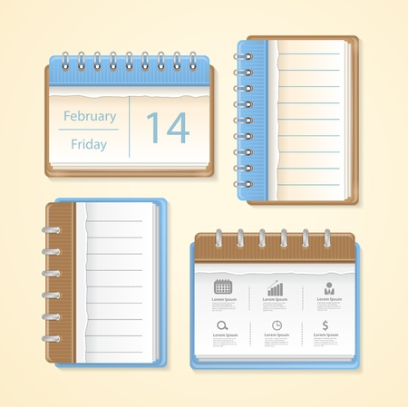 Simple calendar icon, Vector illustration modern template design Stock Vector - 22150727