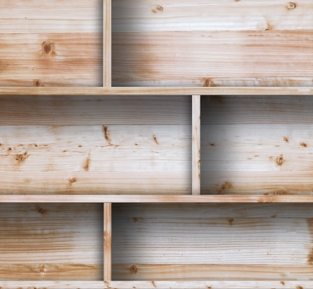 Wood shelf, grunge industrial interior Uneven diffuse lighting version Design component photo