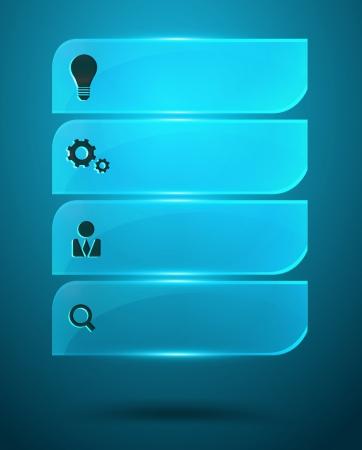 Glass Infographics Vector Elements Stock Vector - 22963420