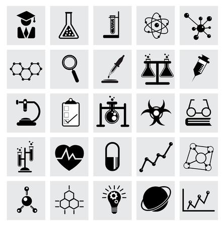 化学と科学ベクトル アイコン