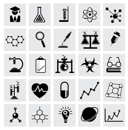 Chemistry and science vector icon Vetores