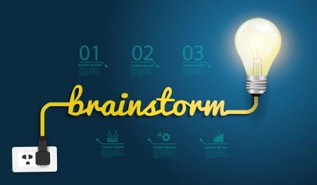 pensamiento creativo: Brainstorm concepto creativo plantilla de dise�o moderno Vectores