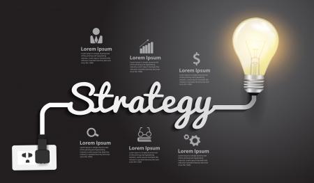 estrategia: Concepto de la estrategia creativa plantilla de diseño moderno Vectores