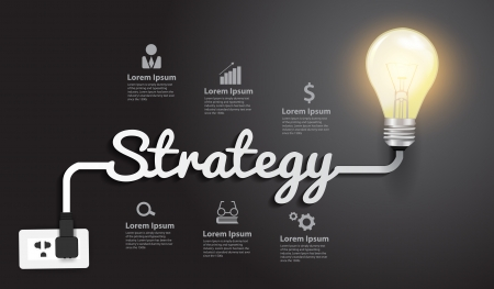 Strategy concept creative modern design template Vector