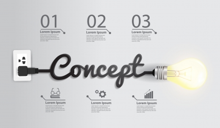 Creative ampoule idée abstraite infographie