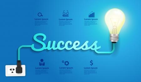 successful: Success concept creative modern design template