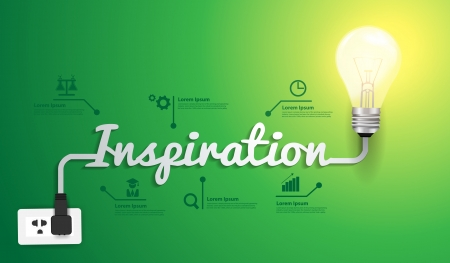 bulb idea: Inspiration concept modern design template Illustration