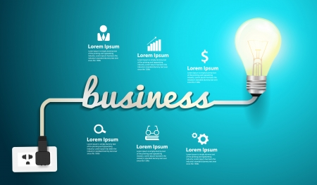 Business concept modern design template Vector
