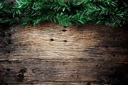 Christmas fir tree on a wooden board photo