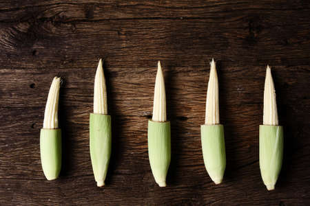 Still life with corn on wooden    photo