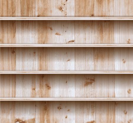 estanterias: Vector estante de madera