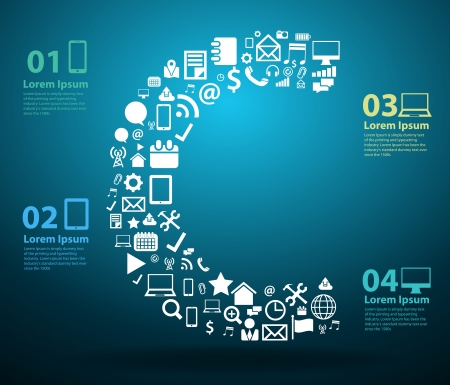 application icons: Application icons alphabet letters C design, Technology business software and social media networking online concept, Vector illustration modern template design