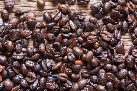 jamoke: Coffee on grunge wooden background