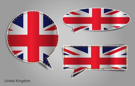 drapeau anglais: Bulle de drapeau anglais Illustration