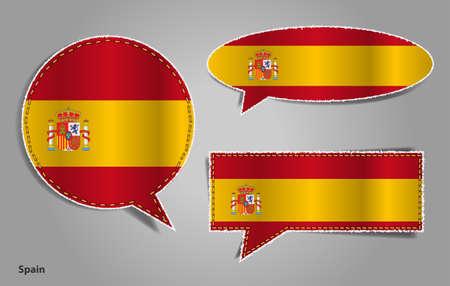 spain flag: Speech bubble of spain flag
