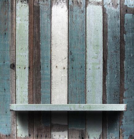 Wood shelf, grunge industrial interior Uneven diffuse lighting version  Design component