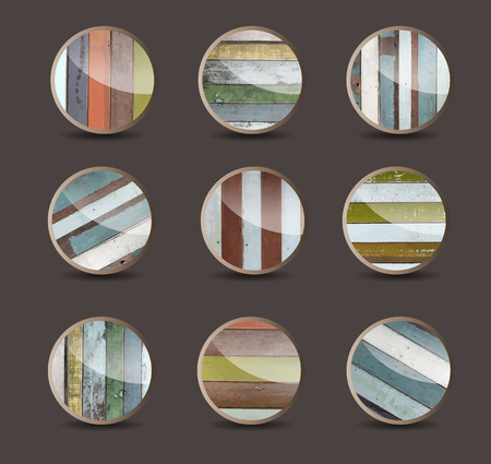 Wood background for the app icons, Vector illustration template layout design Vector