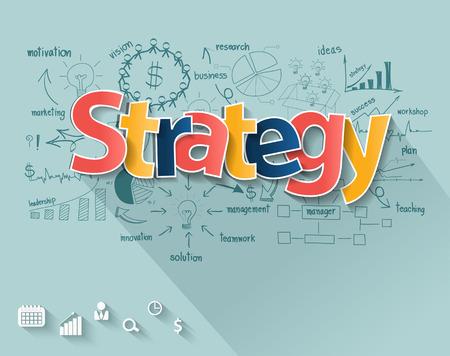 Business strategie-concept Stock Illustratie