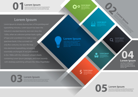 vector web design elements: Vector layout template design, brochure, flyer, magazine cover, poster banner Illustration