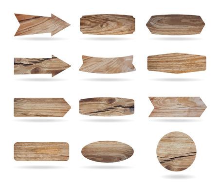 Vector houten uithangborden