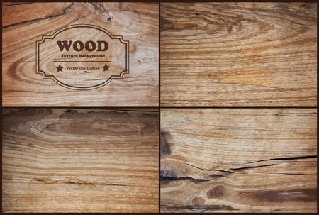 madera: Vector textura de madera de fondo