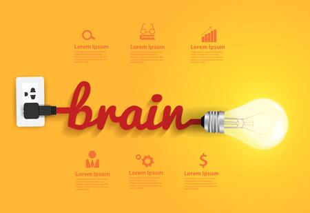 creative concept: Creative brain Idea concept, Vector illustration modern design template Illustration